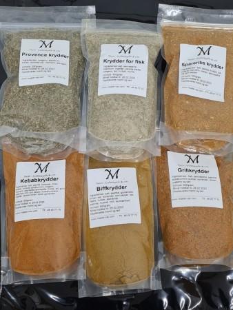 Krydderblandinger a`500 gram